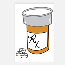 Pill Bottle Postcards (Package of 8)