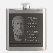 Epicurean epitaph Flask