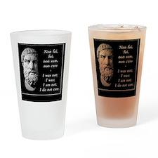 Epicurean epitaph Drinking Glass