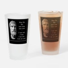 Epicurean epitaph Drinking Glass