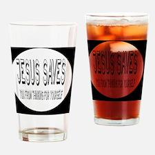 jesusbutton Drinking Glass