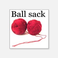 "Knitting Square Sticker 3"" x 3"""