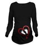 Valentines day Dark Maternity Long Sleeves