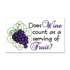 Does Wine Count Rectangle Car Magnet