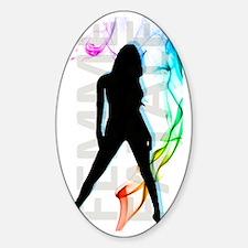 Femme Fatale | SmokeScreen Sticker (Oval)