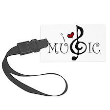 I Love Music Luggage Tag