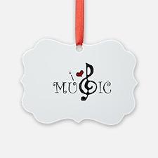 I Love Music Ornament