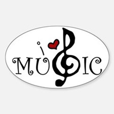 I Love Music Decal