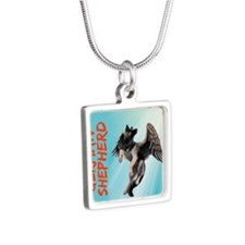 My German Shepherd Dog Silver Square Necklace
