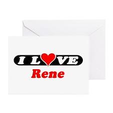 I Love Rene Greeting Cards (Pk of 10)