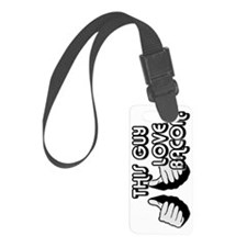 This Guy Loves Bacon Sweatpants Luggage Tag