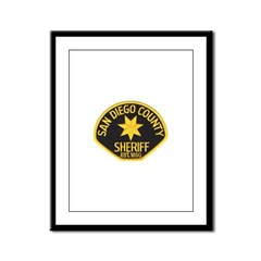 San Diego Sheriff Framed Panel Print