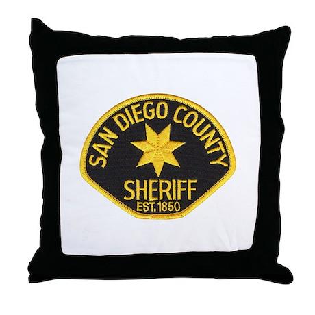 San Diego Sheriff Throw Pillow