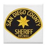 San Diego Sheriff Tile Coaster