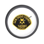 San Diego Sheriff Wall Clock