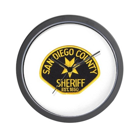 San Diego Sheriff Wall Clock