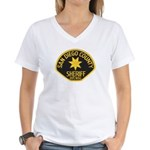 San Diego Sheriff Women's V-Neck T-Shirt