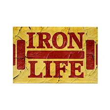 Iron Life Rectangle Magnet