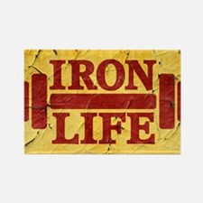 Iron Life Rectangle Magnet