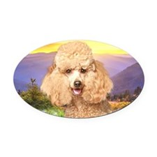 meadow(laptop) Oval Car Magnet