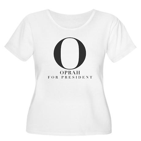 """O for Prez"" Women's Plus Size Scoop Neck T-Shirt"