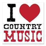 Country music Square Car Magnets