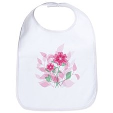 Modern Romantic Pink and red floral Design Bib