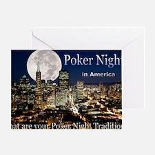 Poker Night in America Tshirt Greeting Card