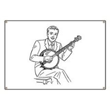 Banjo Player Banner