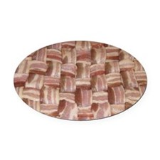 bacon-landscape Oval Car Magnet