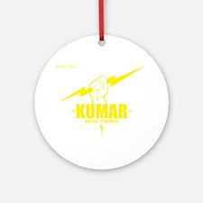 Kumar Lightning 4 Round Ornament