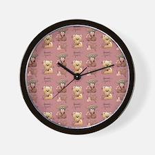 sh_shower_curtain Wall Clock