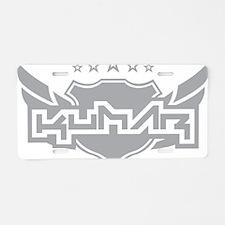 Kumar Winged Arms 1 Aluminum License Plate