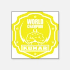 "Kumar World Champ 1 Square Sticker 3"" x 3"""