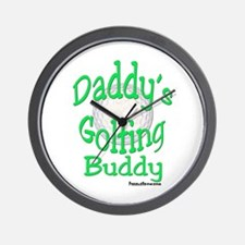 DADDY'S GOLFING BUDDY WALL CLOCK
