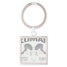 Kumar Ram Stencil 1 Square Keychain
