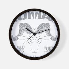 Kumar Ram Stencil 1 Wall Clock