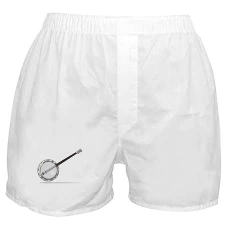 White Banjo Boxer Shorts