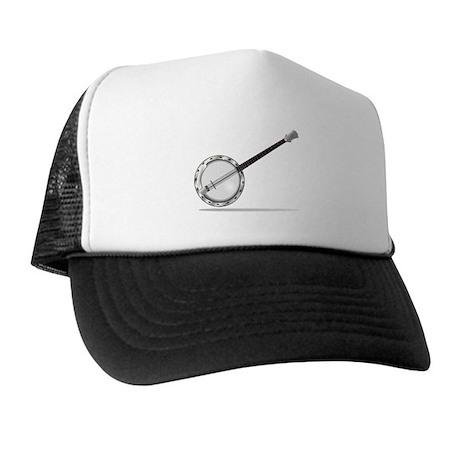 White Banjo Trucker Hat