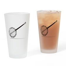 White Banjo Drinking Glass