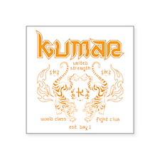 """Kumar Tigers 1 Square Sticker 3"""" x 3"""""""