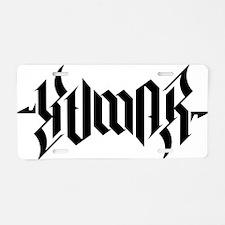 Kumar Ambigram 2 Aluminum License Plate