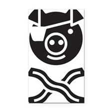 The Bacon Pirate Rectangle Car Magnet