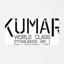 Kumar Stencil 2 Aluminum License Plate
