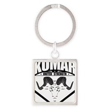 kumar Ram Crest 1 Square Keychain