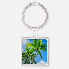Palm tree Square Keychain