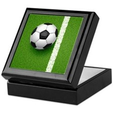 soccer ball Keepsake Box