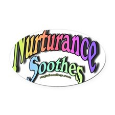 Nurturance Soothes Oval Car Magnet