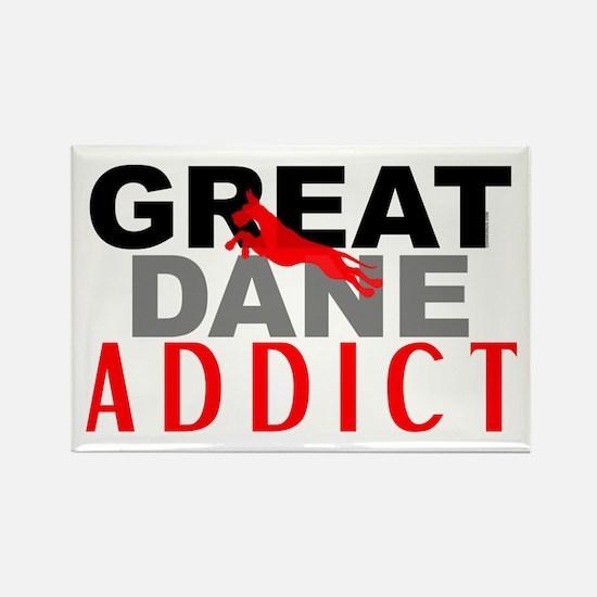 Great Dane Addict Rectangle Magnet