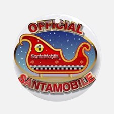 SantaMobile Round Ornament